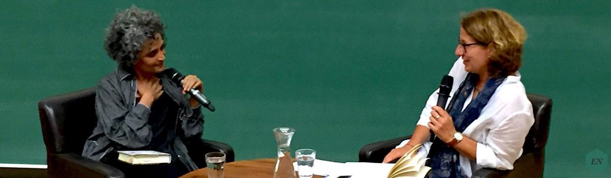 Bericht: Lesung von Arundhati Roy am 12. September 2017 in Tübingen